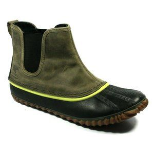 Sorel Womens Out n About Green Rain Boots Size 8.5
